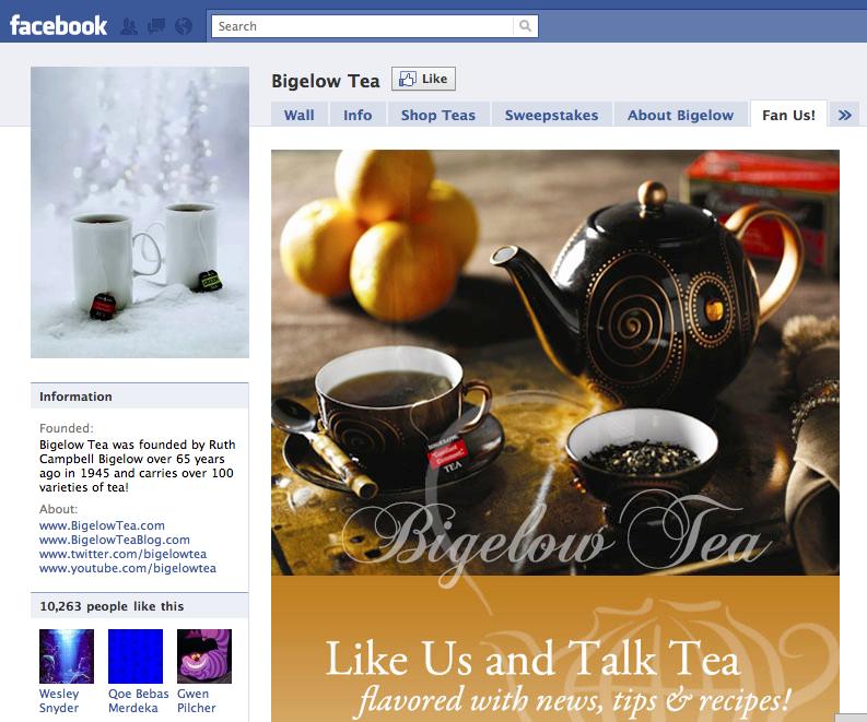 Bigelow Tea Screenshot