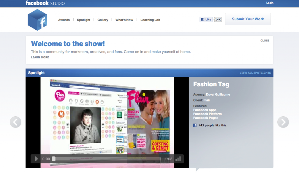 Facebook Studio Screenshot
