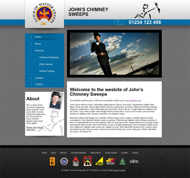 Chimney sweep website