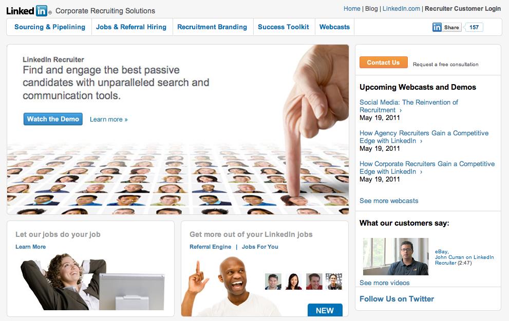 Linkedin Recruiting Screenshot