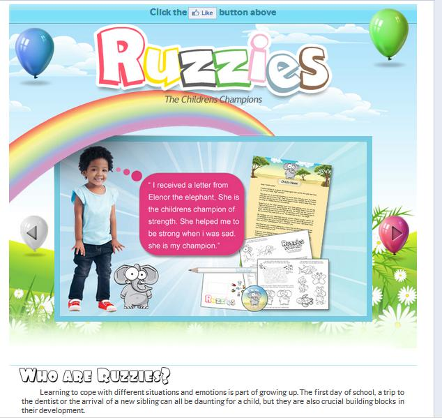 Facebook page design Ruzzies