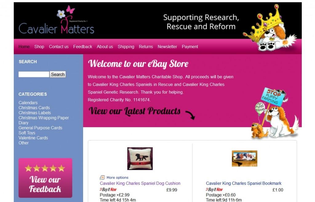 Cavalier Matters eBay storefront design