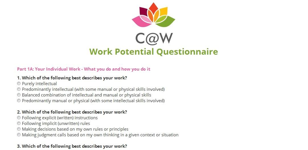 Character Design Questionnaire : Character at work questionnaire design codastar ltd
