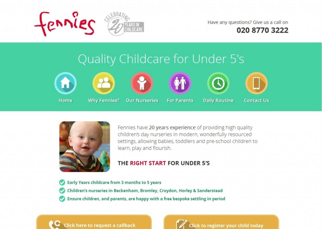 Fennies Responsive Website Design