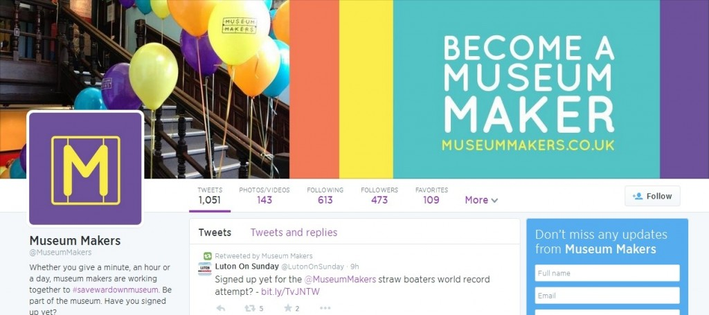 Museum Makers Twitter Profile Design