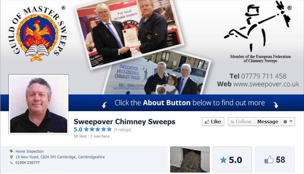 Sweepover Facebook profile Social Media Package