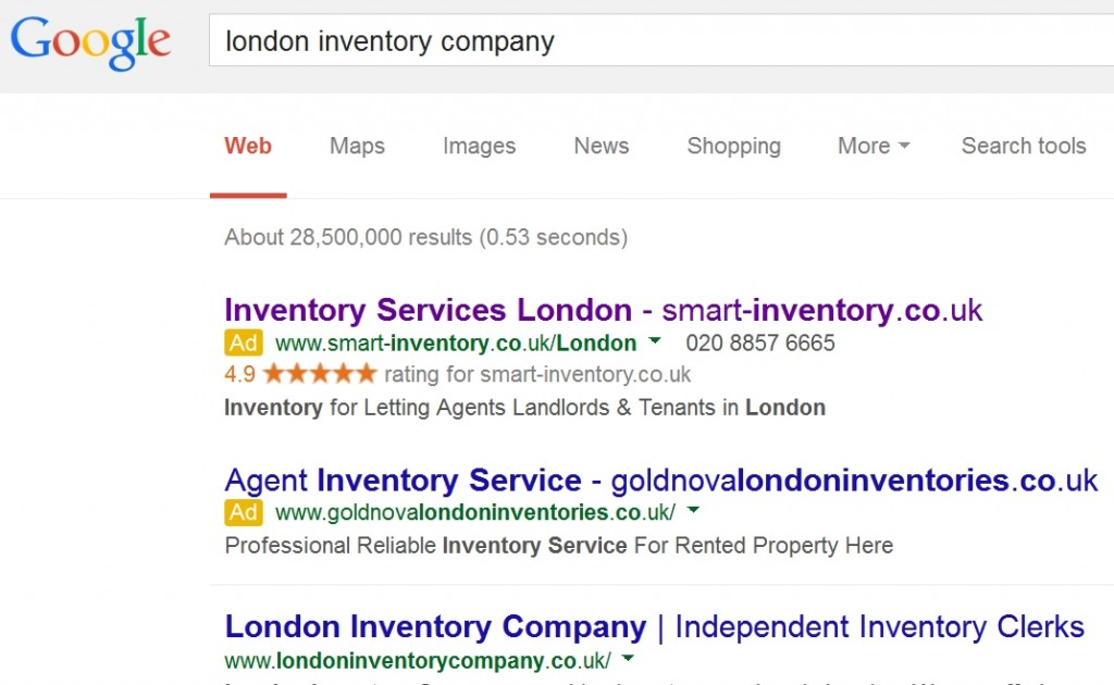Smart Inventory PPC ad