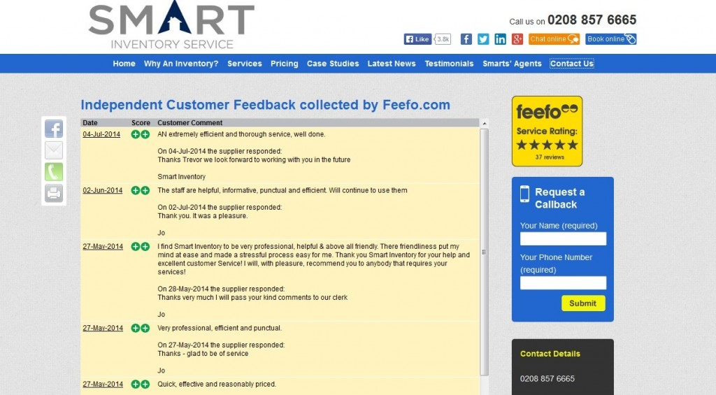Smart Inventory Service Website Design Testimonials