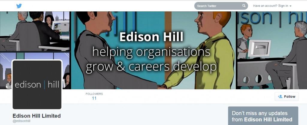Codastar Twitter profile design Edison Hill