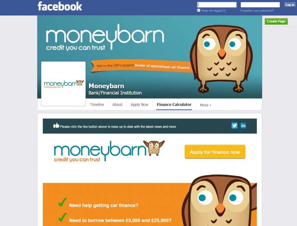 Moneybarn Facebook Tab App Design Codastar
