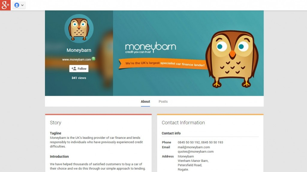 Moneybarn Google+ Design Codastar