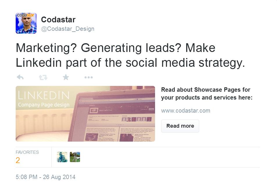 Twitter advertising by Codastar Design