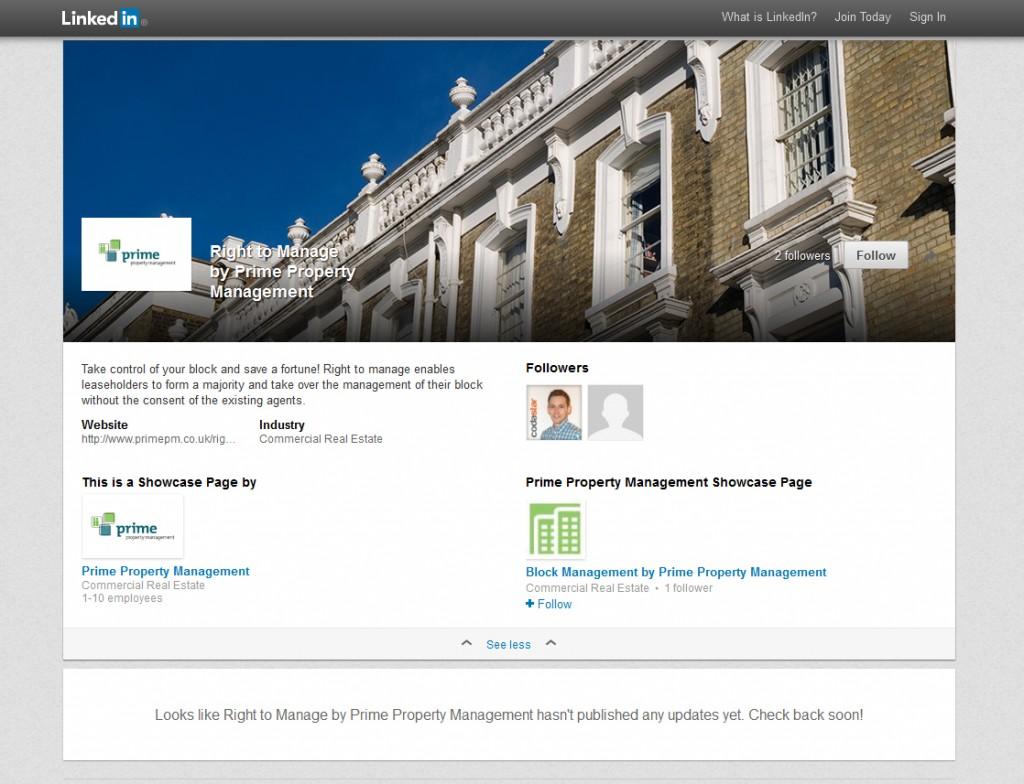 LinkedIn Showcase Page design Codastar