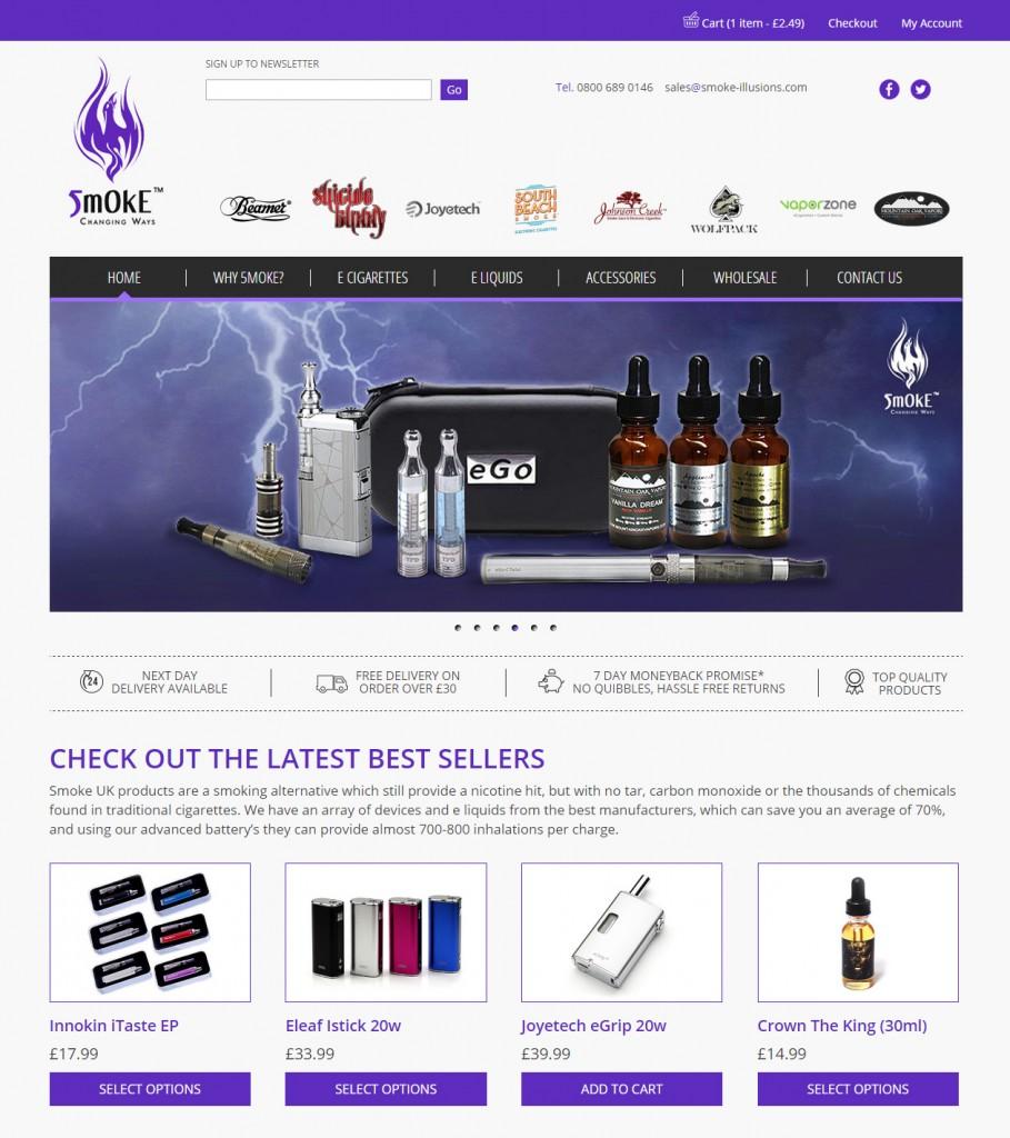 Smoke Illusions responsive website e-commerce Codastar