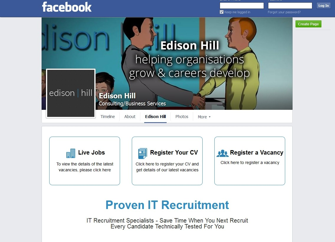 Edison Hill Facebook Page